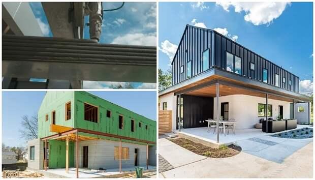 Гибридные дома, в строительстве которых применяется как 3D-печать, так и традиционные технологии
