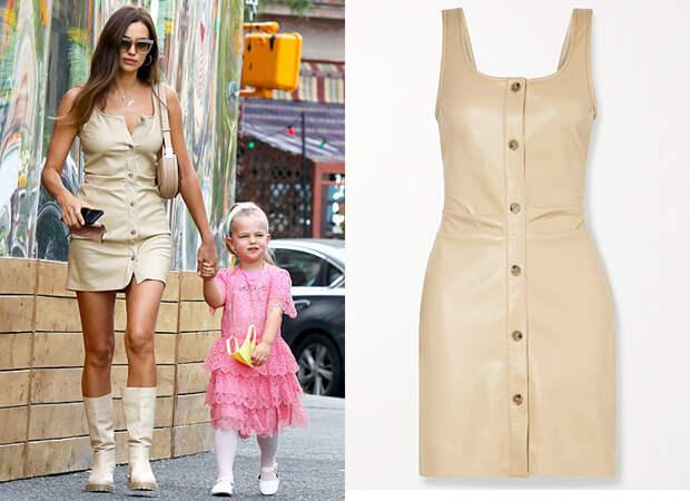 Звездная вещь: где купить кожаное платье, как у Ирины Шейк