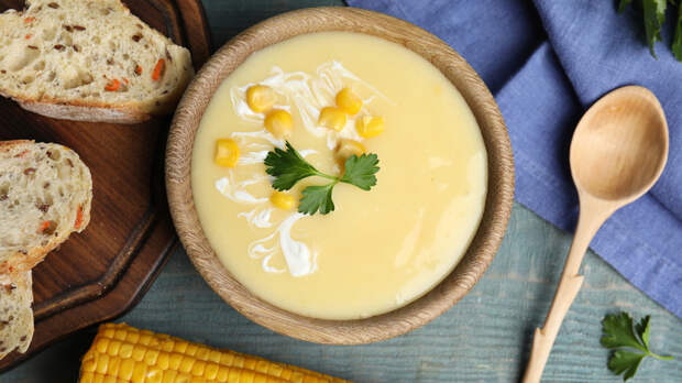 Рецепты Маргариты Симоньян: Кукурузный крем с гребешками